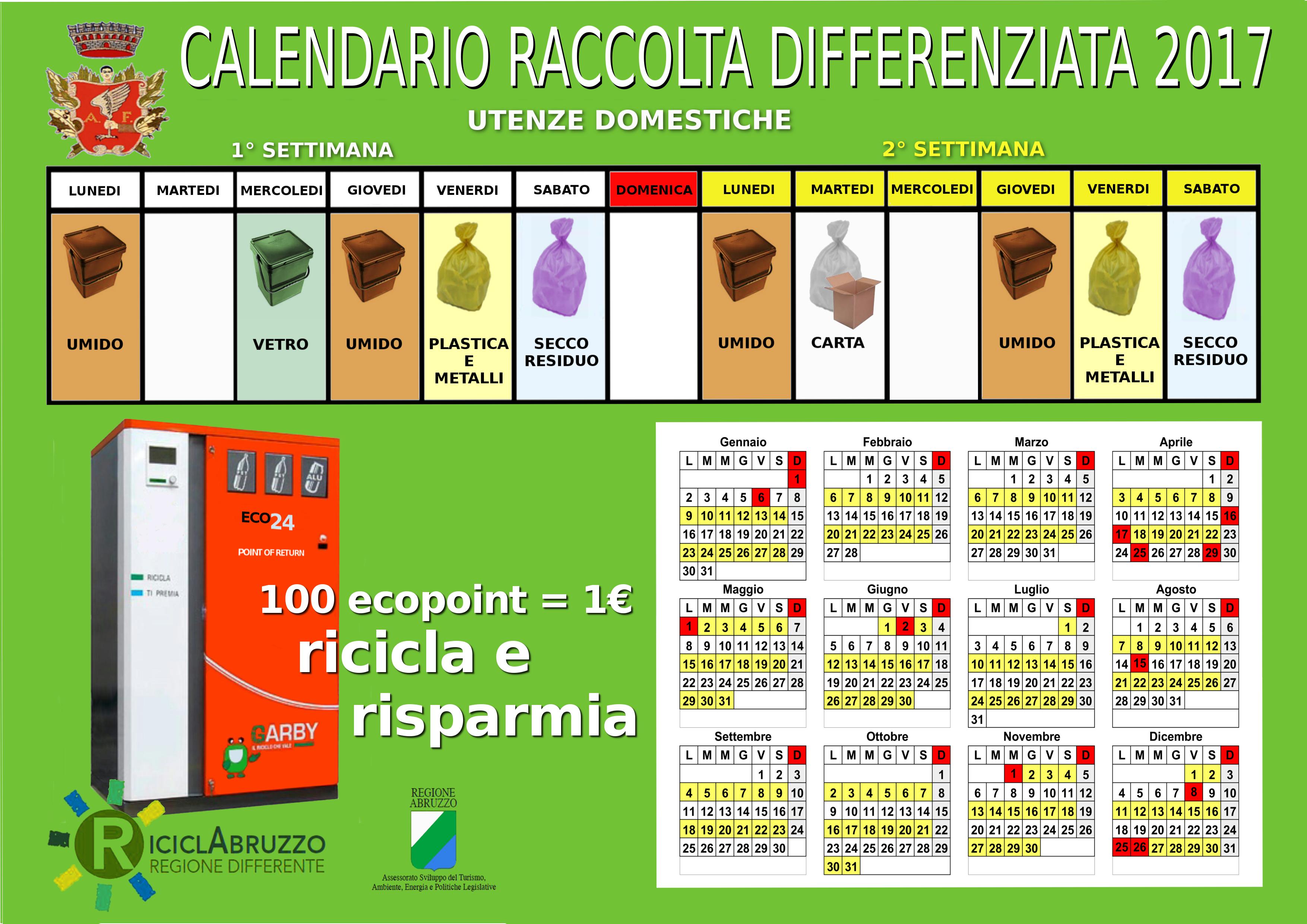 Calendario Raccolta Differenziata Napoli.Linee Guida Comune Di Alfedena